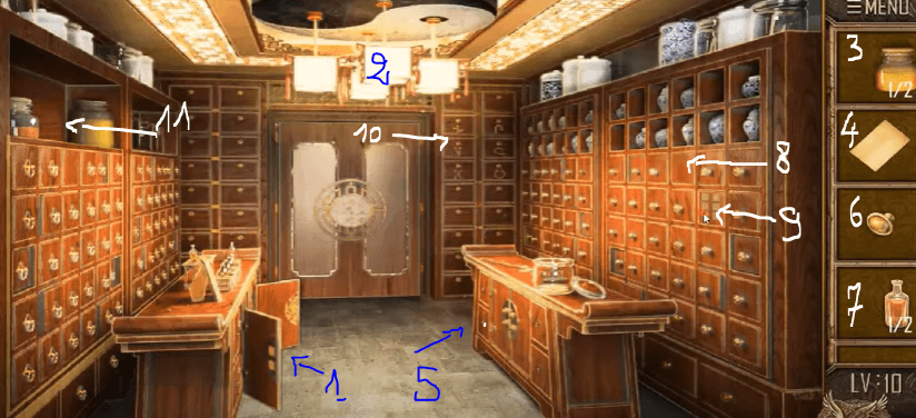 Can you escape the 100 room 12 niveau 10