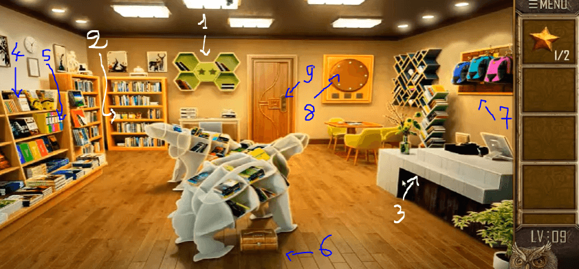 Can you escape the 100 room 12 niveau 9